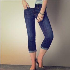 AEO Artist Crop Denim Jeans Size 6